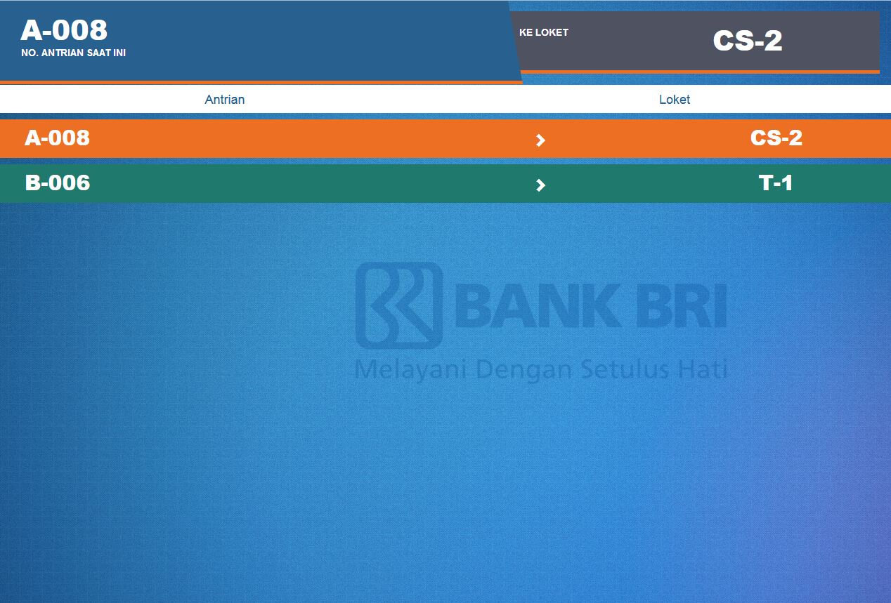 Aplikasi Antrian Berbasis Web Display