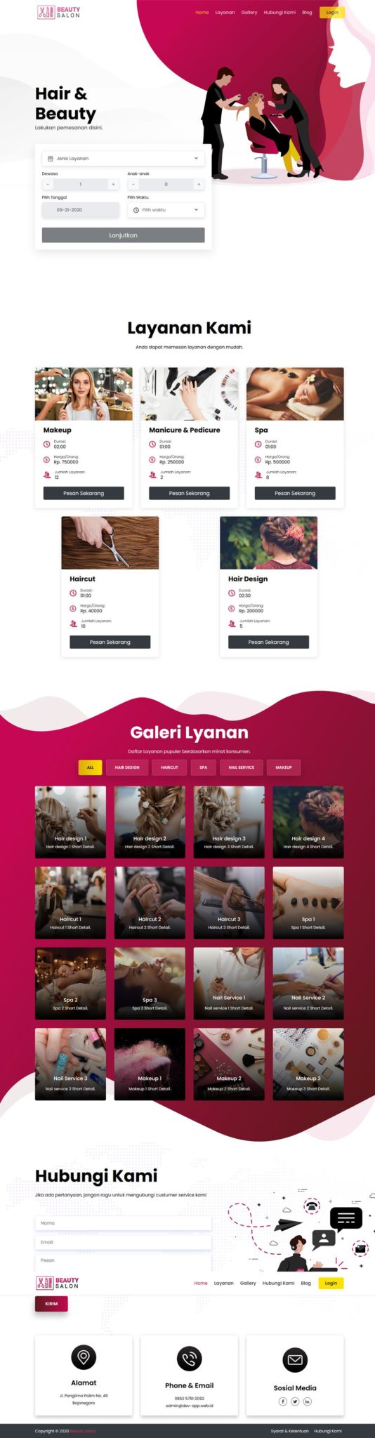 Website Salon Kecantikan